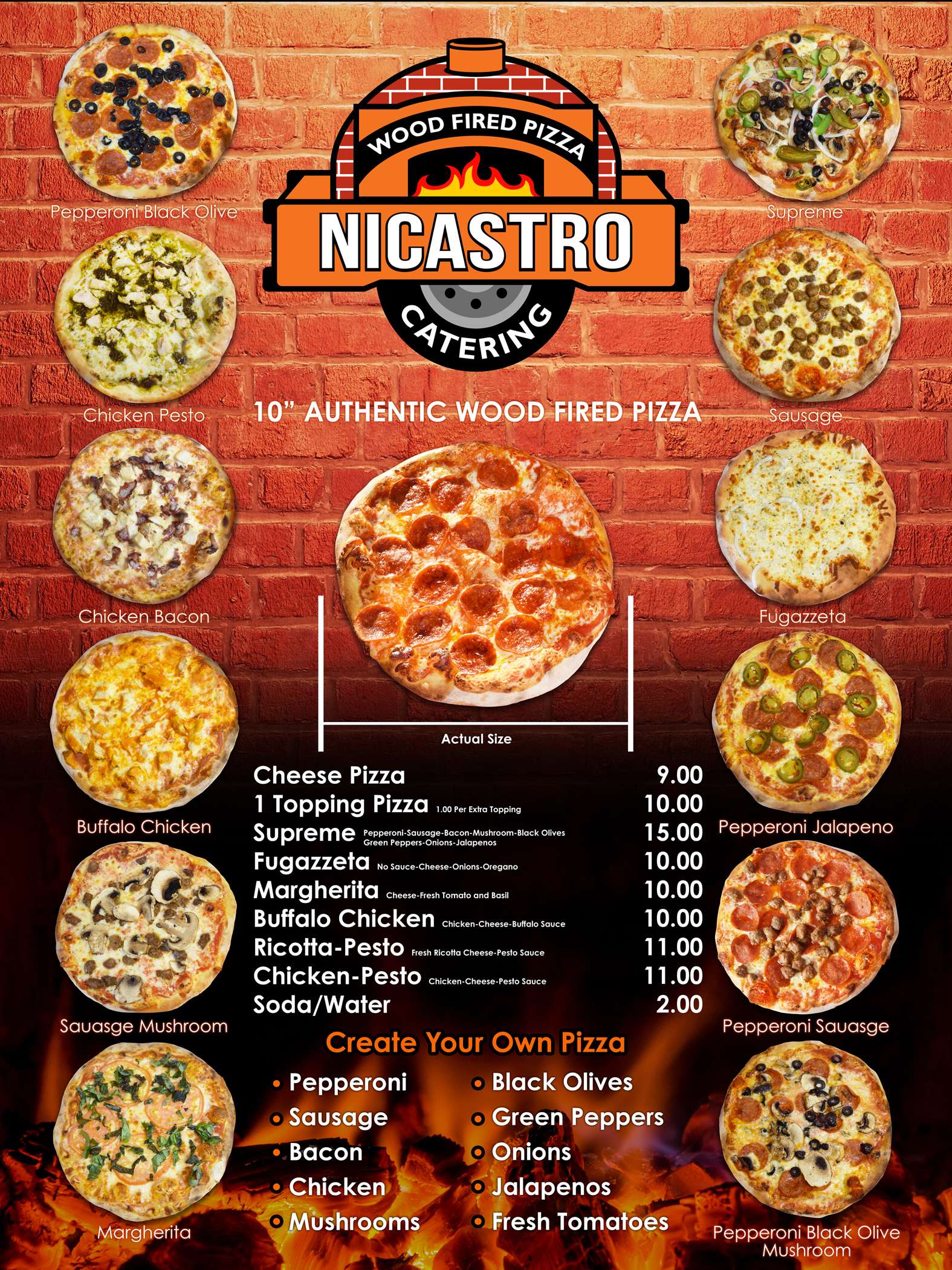 nicastro wood fired pizza catering